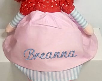 Cubbies Redhead Rag Doll Personalized & Embroidered Monogrammed Gift
