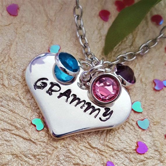 Custom Grandma Birthstone Necklace, LDS Jewelry Gift for GRAMMY,  Personalized Birthstone Jewelry, Gift for Mimi  Mother Wife, New Mom Gift