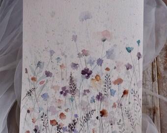 Original painting of meadow in bloom