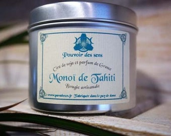 Monoi soy wax candle
