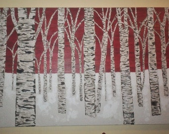 Snow Birch also available in various sizes, made to order