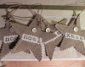 10 stars Christmas hanging