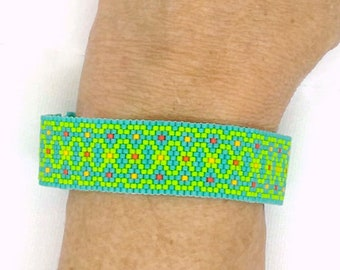 Crazy Summer Narrow Peyote Bracelet