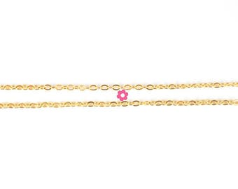Gold Mesh chain x1m Oval 2.5x3mm (16 (A)