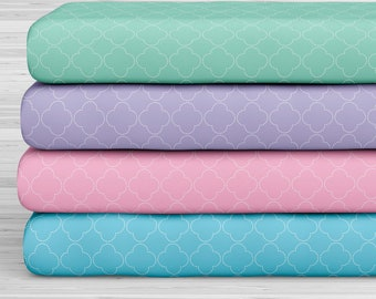 27x17 Felt Sheets - Geometric Compositions for Mermaids - Pack of 4