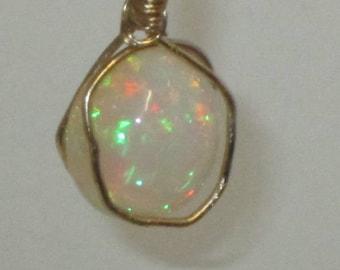 Large Sparkling Opal Necklace