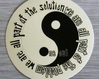 One Soul Yin Yang Sticker Outdoor Bumper Stickers