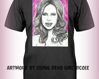 "Portrait T-Shirt : ""Bite Me"" Pam True Blood Kristin Bauer Vampire Horror"