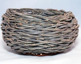 "Traditional Sicilian Willow ""Vimini"" Basket/Planter"