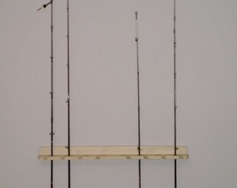 Economy Poplar Wooden Fishing Rod Rack