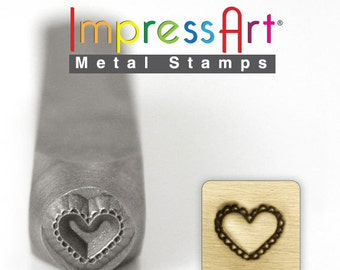 "LACE HEART STaMP 6mm 1/4"" Steel Punch ImpressArt Stamping Decorative Scalloped Tool Jewelry Making Tool"