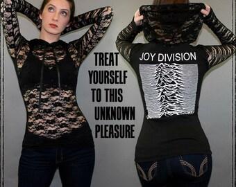 T-shirt de Joy Division dentelle Hoodie pull Top inconnu plaisirs Ian Curtis Goth New Wave Post Punk Band Merch nouvel ordre