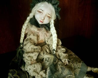 Vintage copyright movable doll