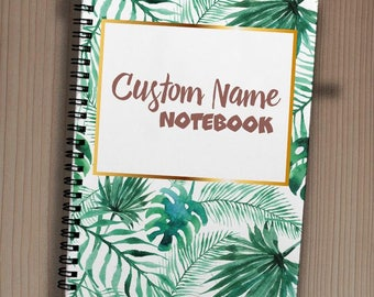 Customized Notebook Custom Notebook Floral Notebook Spiral Notebook Custom Notepad Custon Planner Personalized Notebook Personalized Notepad