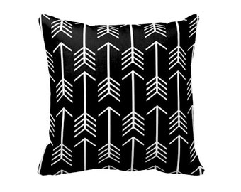 Decorative Throw Pillow Cover Decorative Pillow Black Pillow Cover Black Throw Pillow Cover 20x20 18x18 Lumbar Pillow Euro Pillow