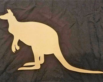 Kangaroo Wood Cutout, Laser Cut, Zoo Animal Shaped, DIY Unfinished, Crafters, Paint Your Own by Liahona Laser on Etsy