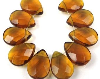 10 of 18x13mm Topza glass Quartz Faceted Briolette Teardrop Beads (e7502)