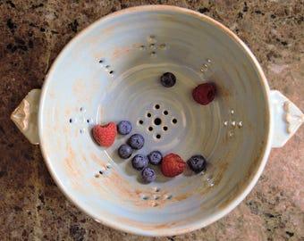 Light blue berry bowl