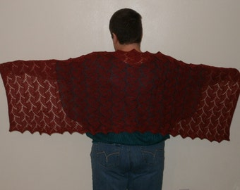 Cranberry Colored Shawl