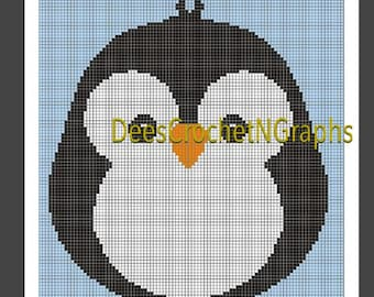 Baby Penguin Graphghan Graph Chart 100 X 150