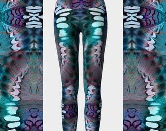 Butterfly Yoga Leggings, Printed Leggings, High Waisted Leggings, Performance Leggings, Cute Leggings, Colorful Leggings, Women's Leggings