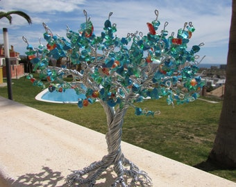 Turquoise Wire Tree Of Life