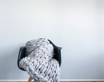 kostenloser versand grobstrick decke gestrickte decke decke. Black Bedroom Furniture Sets. Home Design Ideas