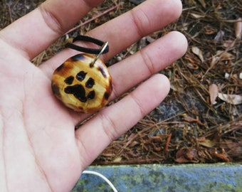 Wooden Wolf Paw necklace