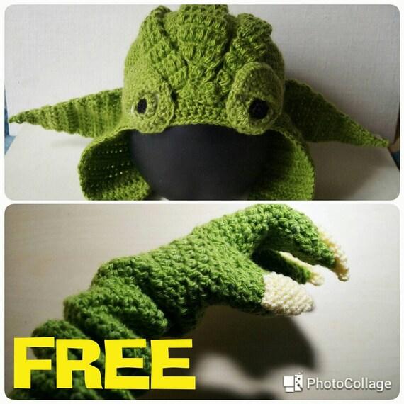 Yoda Hat Crochet Pattern + Yoda Gloves Pattern PDF, Star Wars, Star ...