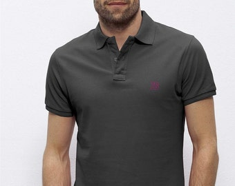 POLO 100% Organic cotton  short sleeve Anthracite