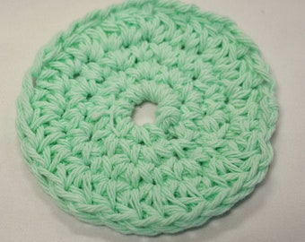 Facial Scrubbies Mint Color