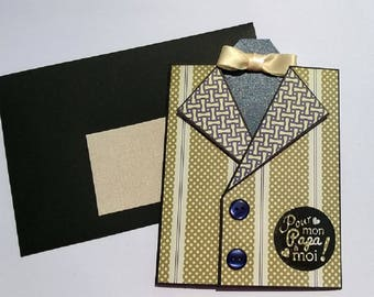 """Jacket"" father's Day card"