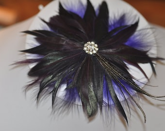 New Vintage Feather Barrette