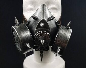 Silver Steampunk Styled Gas Mask | Venetian Cosplay Mardi Gras Masquerade Mask