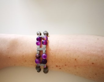 Jobs tears purple bracelet