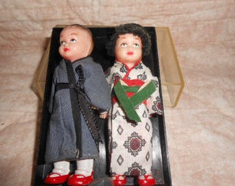 """Vintage Celluloid Dolls Of The World-4.25"""" Tall"""