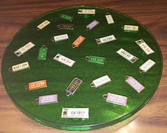Lucite Tray with 25 DAV License Plates