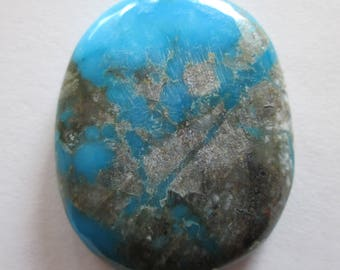 61.40 ct. Stabilized Kingman, Arizona Turquoise Cabochon Gemstone, 1AY 027