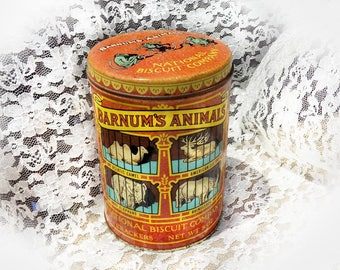 Nabisco Barnum Tin -  Barnum's Animal Crackers Tin - cracker tin - biscuit tin - advertising tin -  collectible tin - dated 1979  # 42