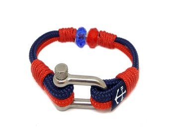 Bran Marion Ticino Nautical Bracelet  | Handmade in Ireland | Unisex Bracelet | schackel armband | Schnur Armband