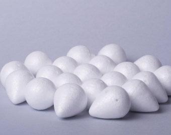 Egg-shaped foam base for a flower 24х30mm
