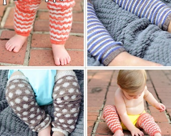 make your own CozyLegs Legwarmers (DIGITAL KNITTING PATTERN) infant baby toddler