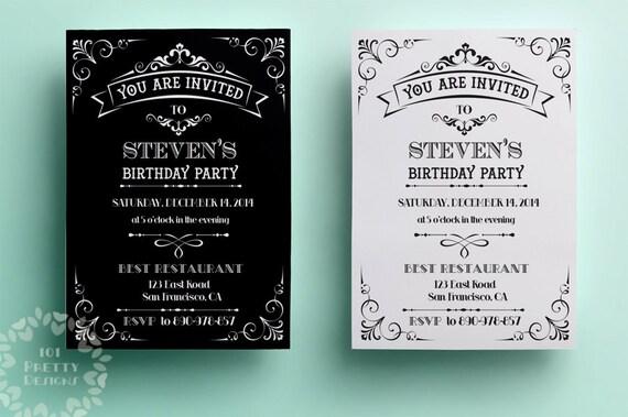 Geburtstag Einladung Vorlage Druckvorlage Einladung Design