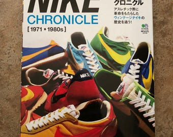 Nike Chronicle 1971-1980s Book Lighting Japanese Vintage Sneakers Shoes Hypebeast Nike Collector