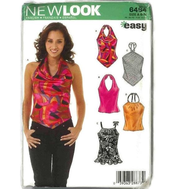 Halterneck top sewing pattern summer top sleeveless top