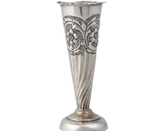 Small Continental Silver Bud Vase c. 1900