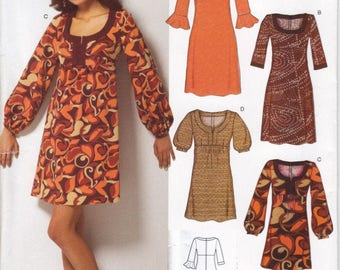 Pattern New Look 6751 Dresses with Sleeves Variation Size 10-22 B32-1/2 - 44 UNCUT