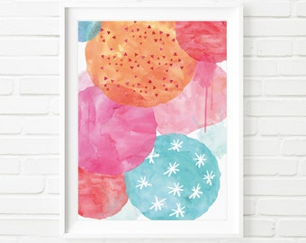 Abstract Art Print, Digital print, Printable Art, Abstract Digital Painting, Abstract Wall Art, home decor, kids print, watercolor print