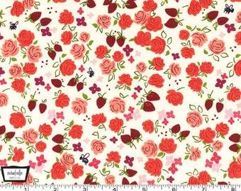 Strawberry Moon - Roseberry Honey Strawberry by Sandi Henderson from Michael Miller