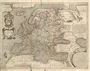 Vintage Map - Europe 1600